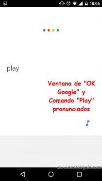 comandos voz controlar app youtube comando play