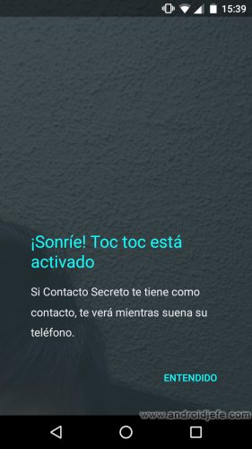 google duo toc toc activado
