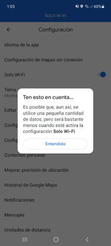 google maps datos moviles desactivar