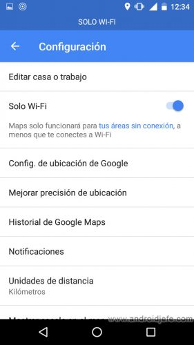 google maps solo wifi descargar mapas sd ajustes