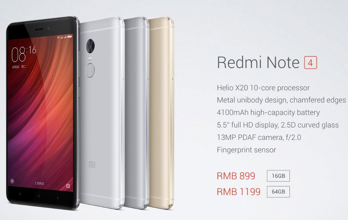 Quick Facts About Xiaomi Redmi Note 4: Xiaomi Redmi Note 4, Diez Núcleos, 13MP Por 135 Dólares