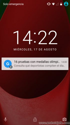 desactivar notificaciones google now