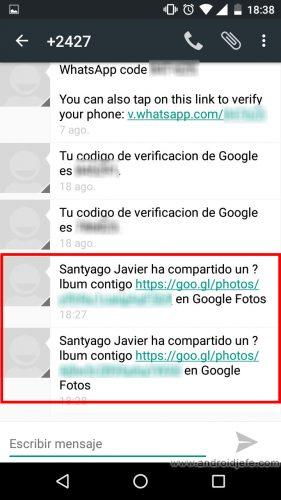 google-fotos-compartir-correo-sms
