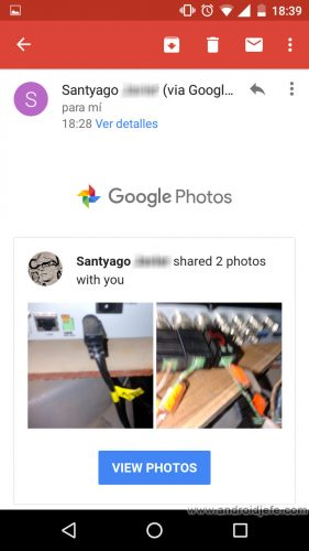 google-fotos-compartir-correo-sms-demo