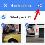 Google Fotos ahora permite compartir fotos/vídeos por correo y SMS. Al parecer, el envío de SMS es gratis.