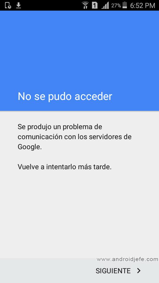 7 soluciones al error «problema de comunicación con los servidores de Google» al iniciar sesión con tu cuenta