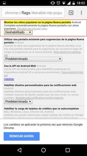 desactivar-paginas-visitadas-nueva-pestana-chrome-sitios-populares