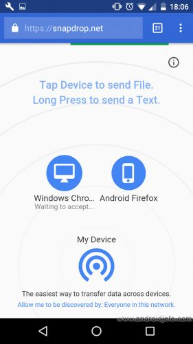 webapps-enviar-texto-archivos-snapdrop