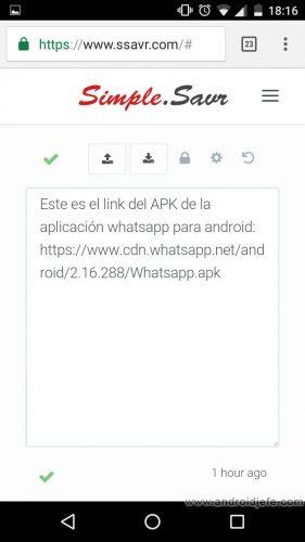 webapps-enviar-texto-archivos-ssavr