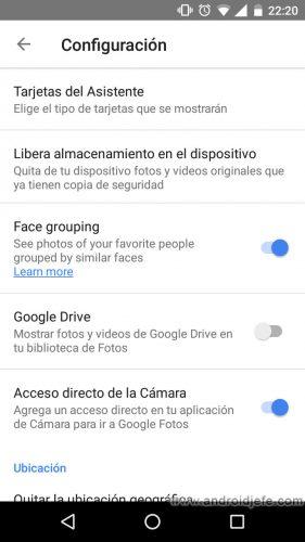 acceso-directo-google-fotos-camara-ajustes