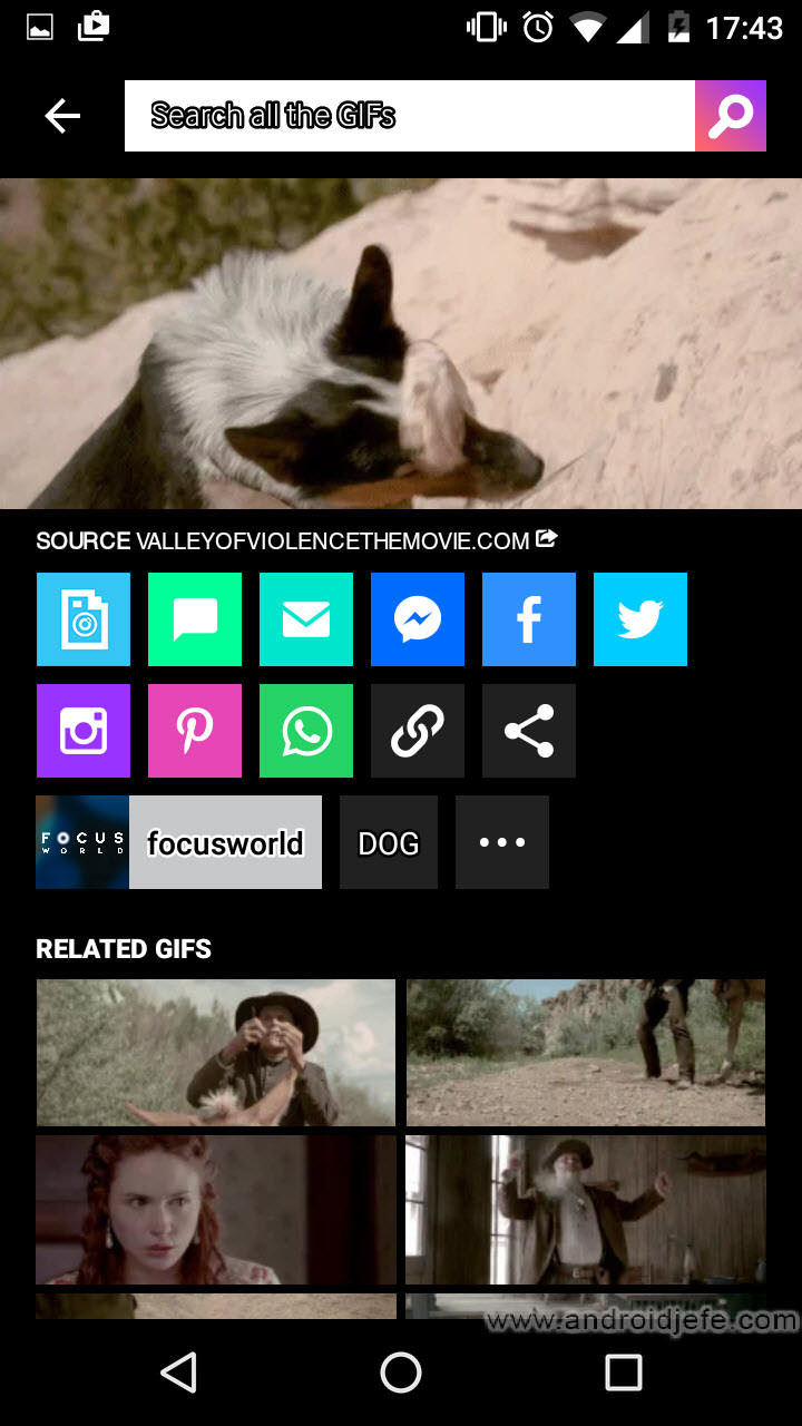 Cómo descargar un GIF con Giphy para Android