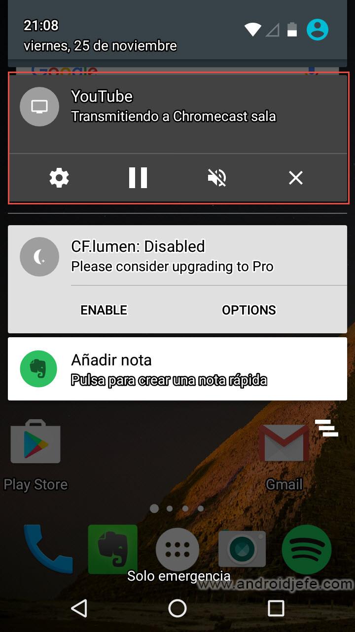 Cómo quitar la molesta notificación que Chromecast pone en todos los dispositivos conectados a la red WiFi en casa [Actualizado: Nuevo método]
