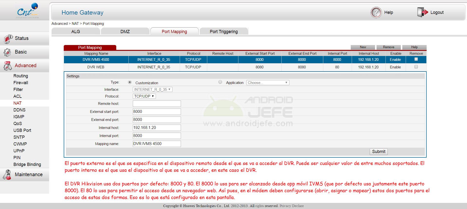 Configurar iVMS 4500 para ver cámaras DVR desde celular