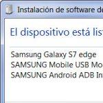 Descargar los drivers USB de Samsung