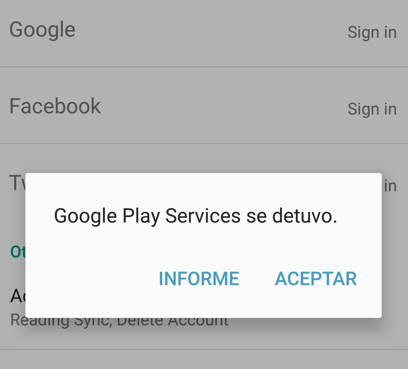 Solución error Google Play Services SE DETUVO • Android Jefe