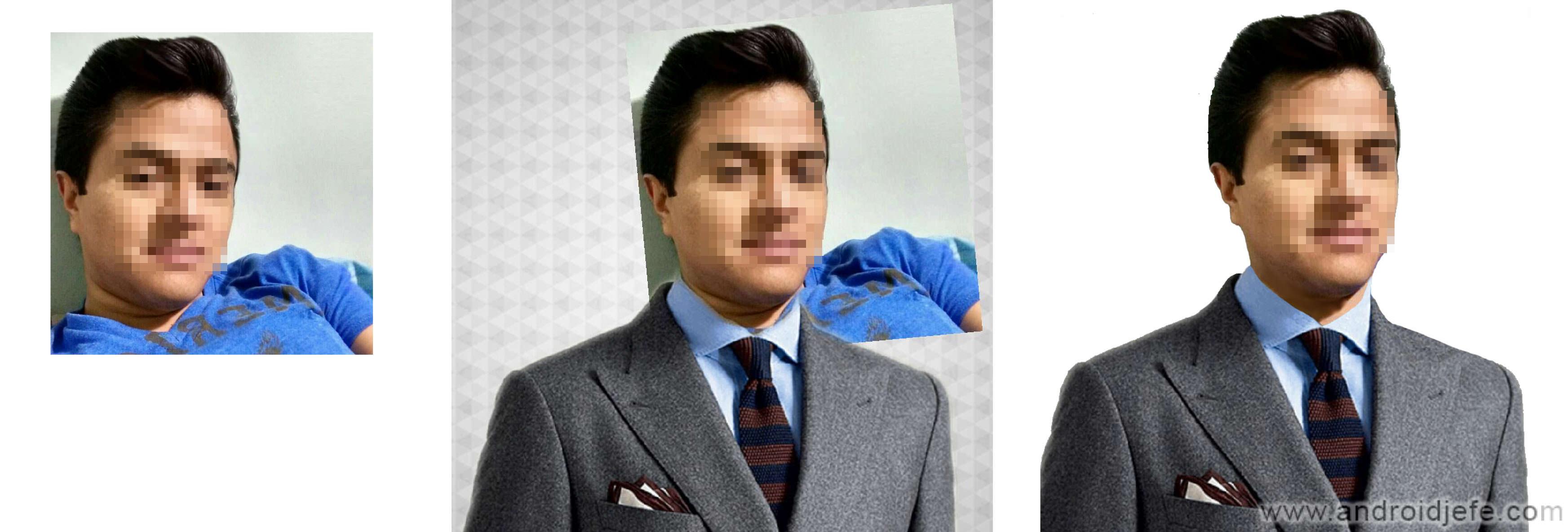 2 APPS para montar tu foto en un traje de hombre