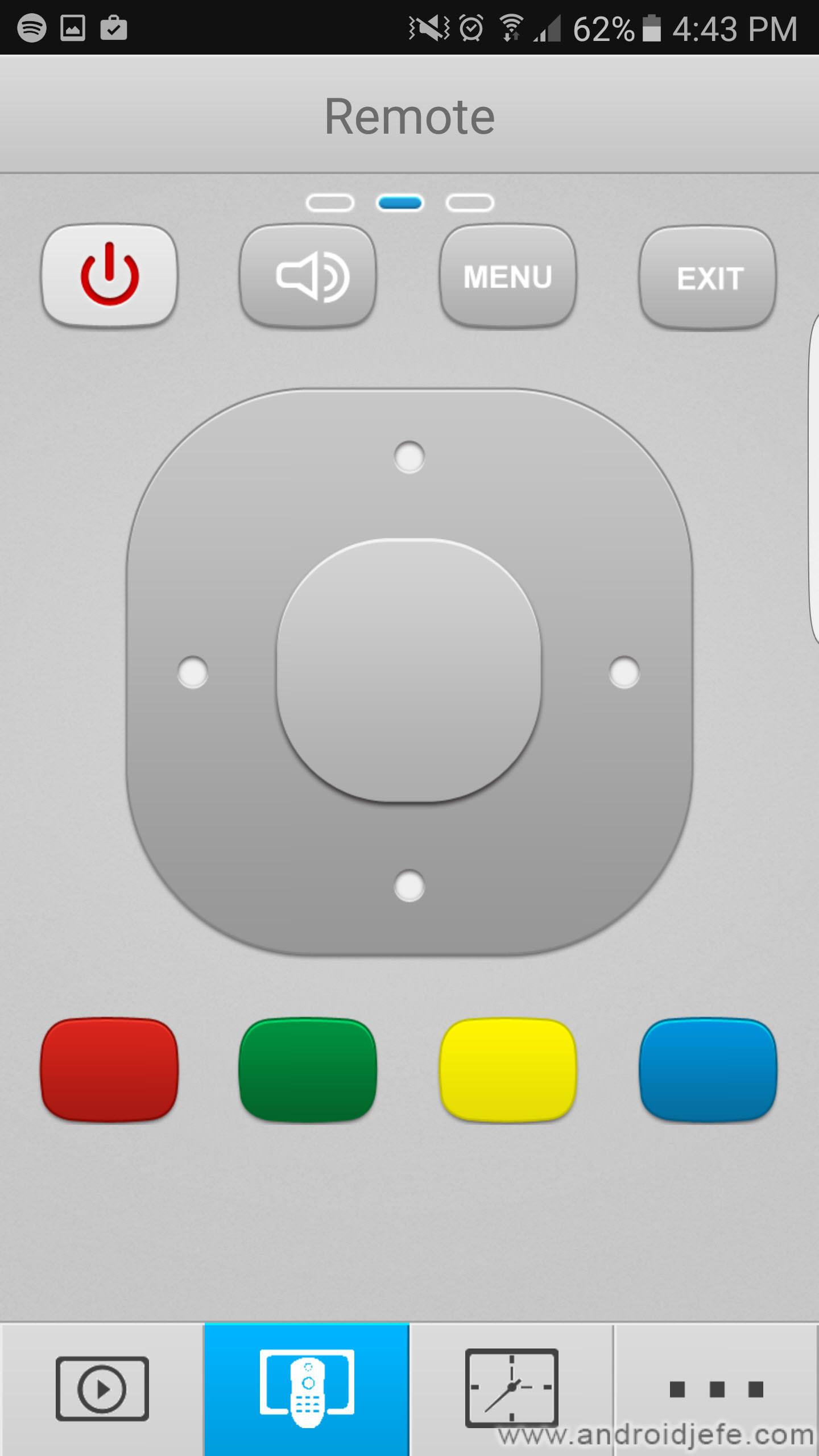 aplicación para celular control remoto