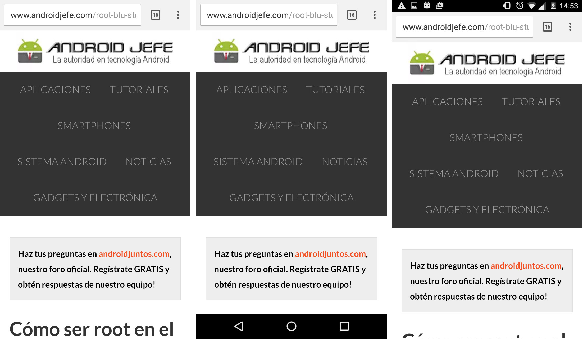 Google Chrome En Pantalla Completa Y Cualquier Otra App Android Jefe