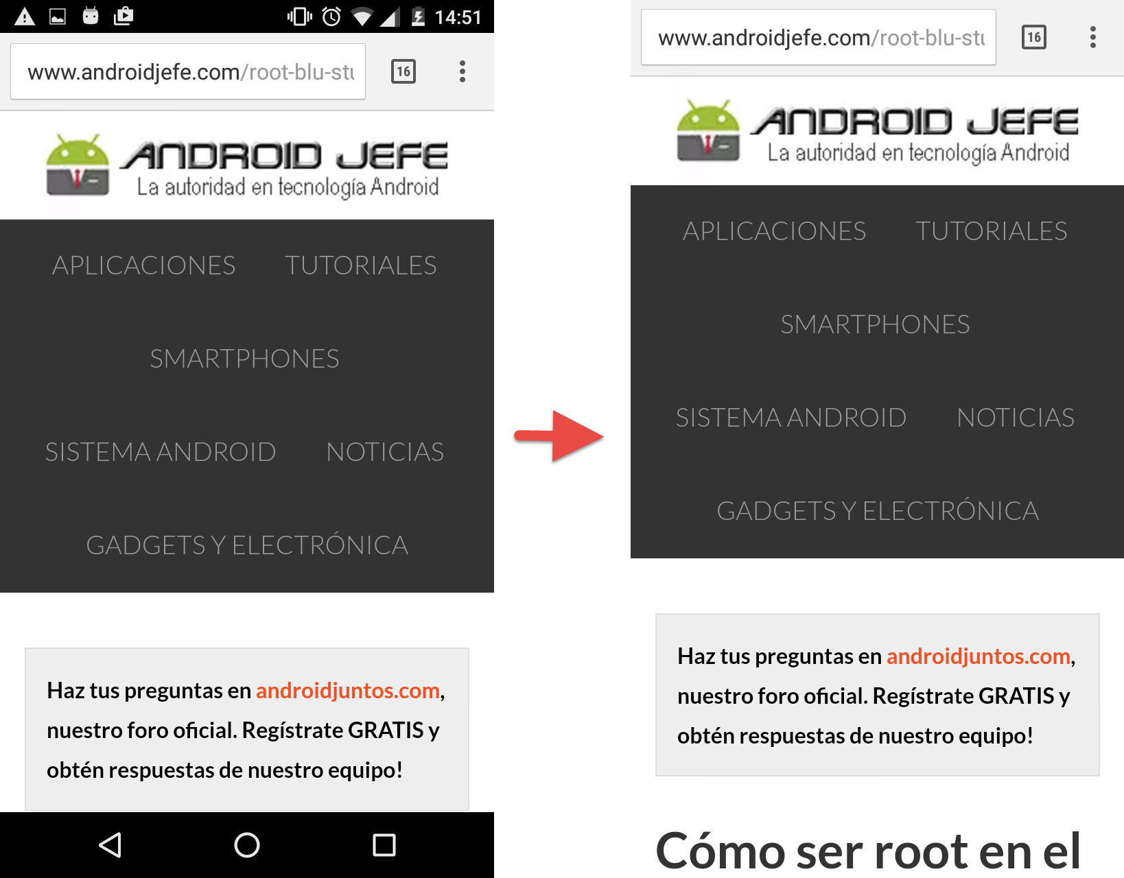 Cómo activar la pantalla completa en Android SIN root