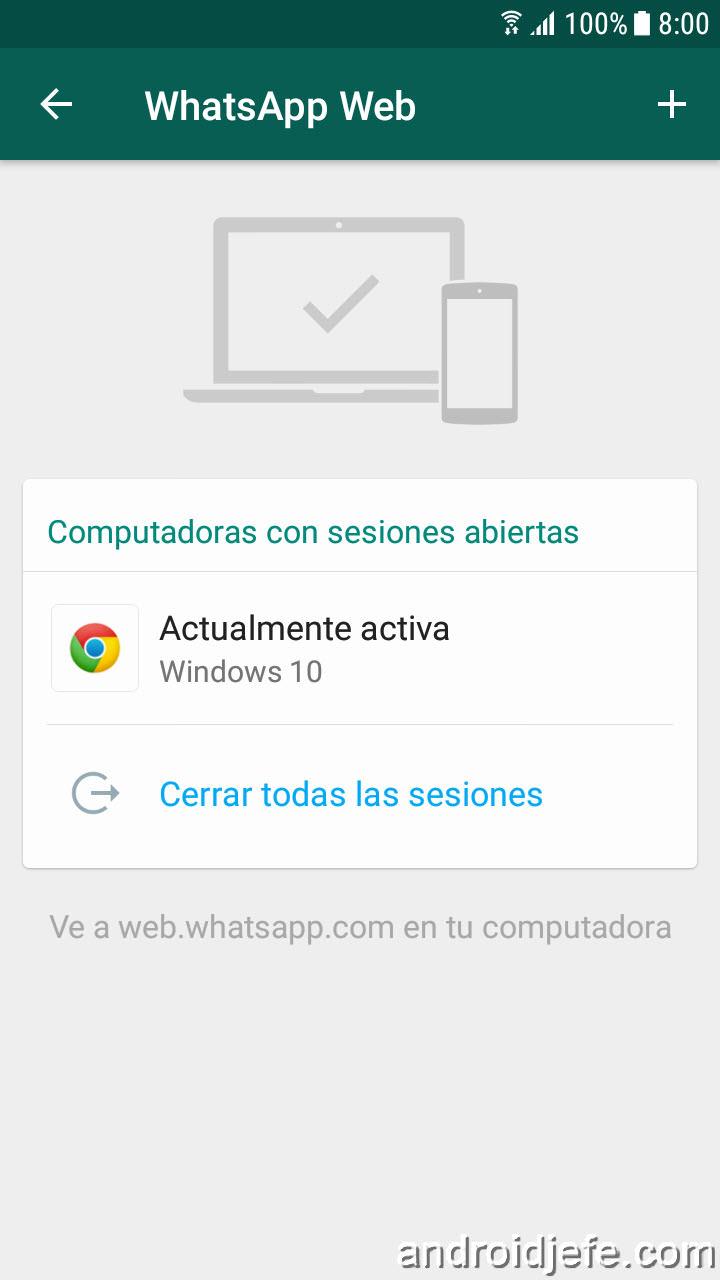 Advertencias sobre WhatsApp