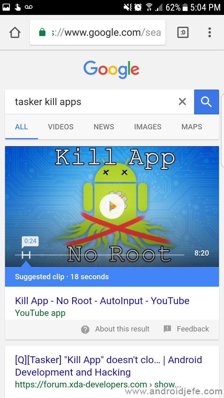 Cómo buscar un VIDEO en Google desde Android