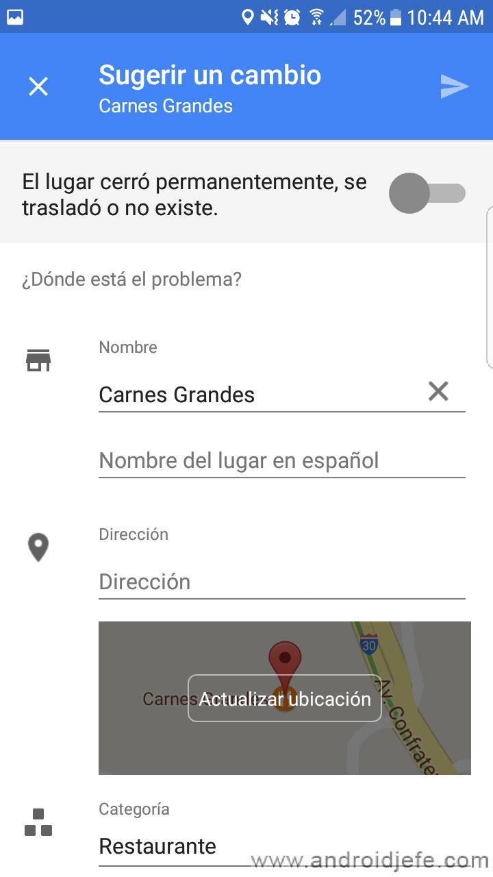 Cómo solicitar correcciones en los mapas de Google Maps