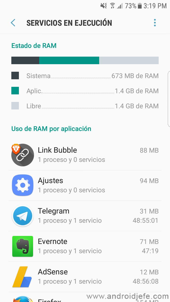 Cómo evitar aplicaciones en segundo plano en Android 7+ (SIN root)