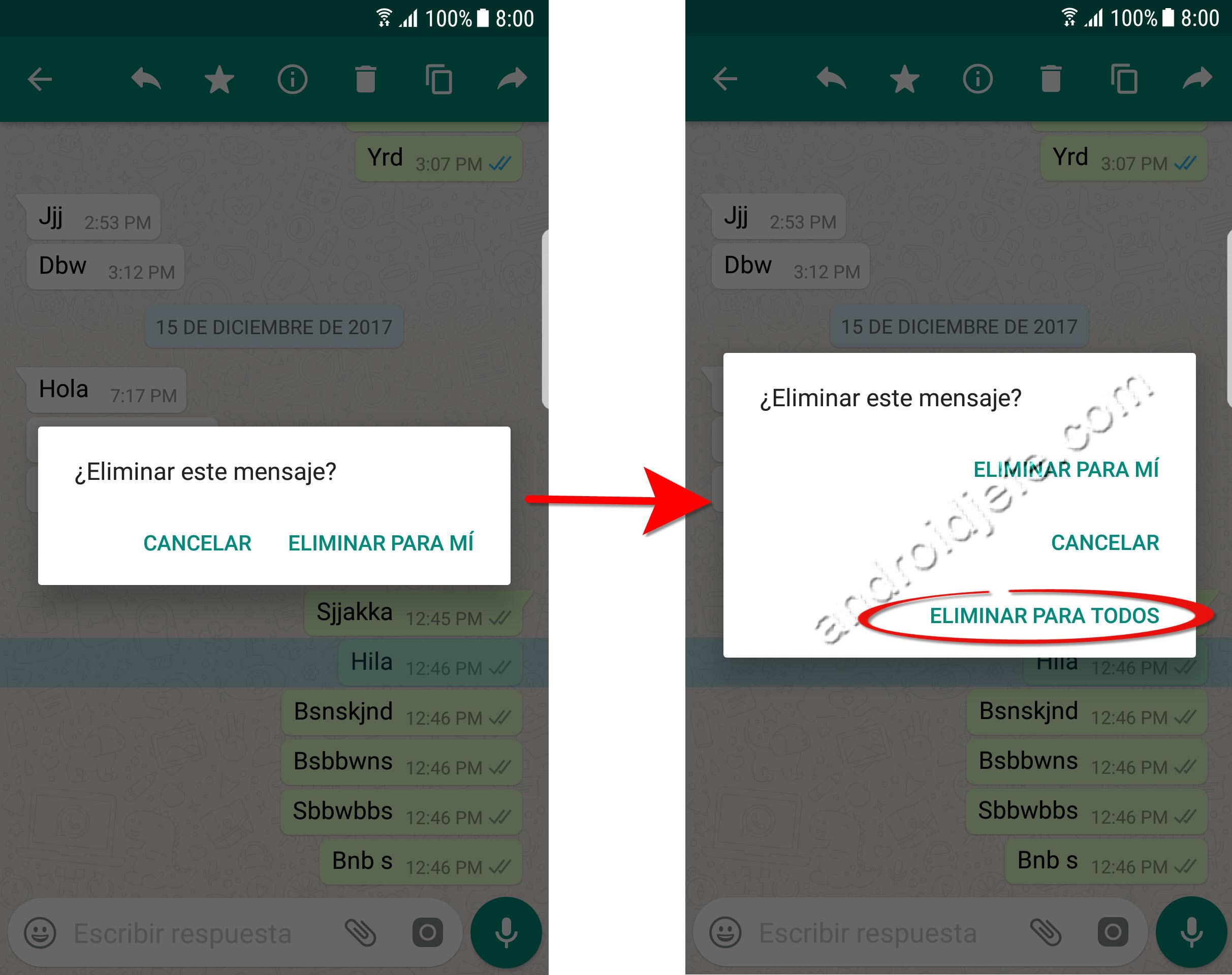 Cómo eliminar un mensaje de WhatsApp DESPUÉS del tiempo límite