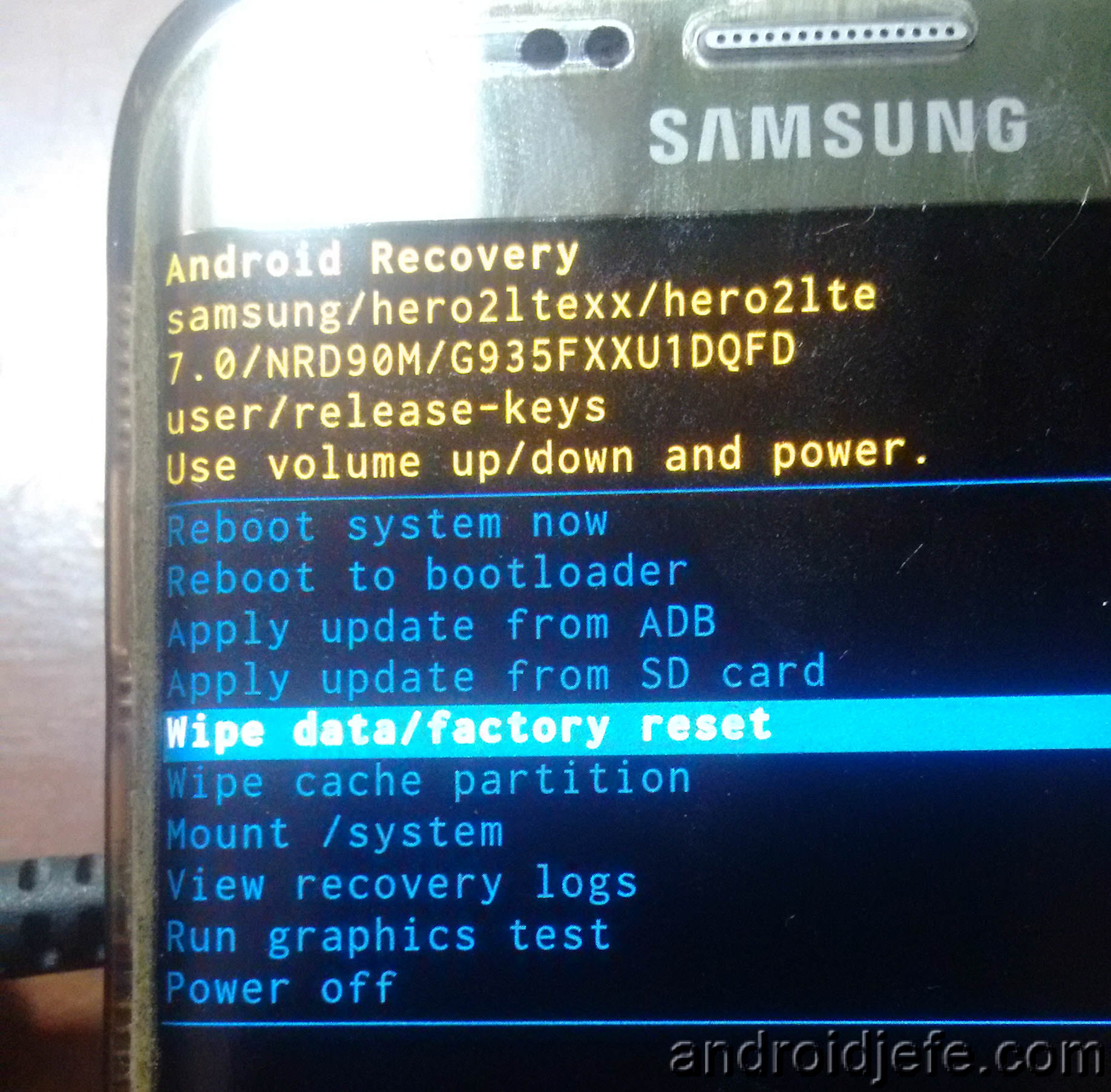 Arreglar Samsung S7 Edge con un simple Hard Reset • Android Jefe