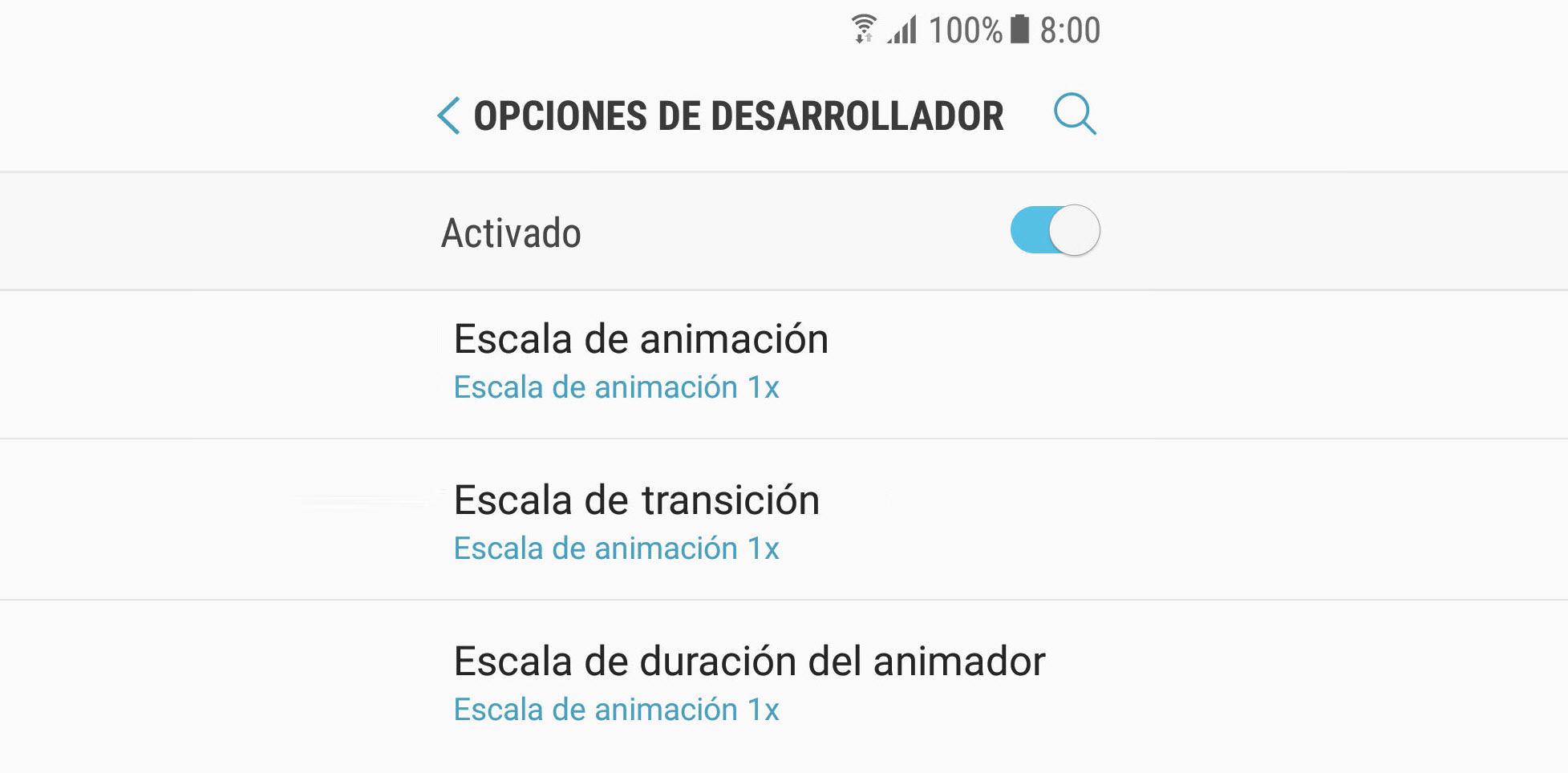 Desactiva las animaciones para ACELERAR tu celular