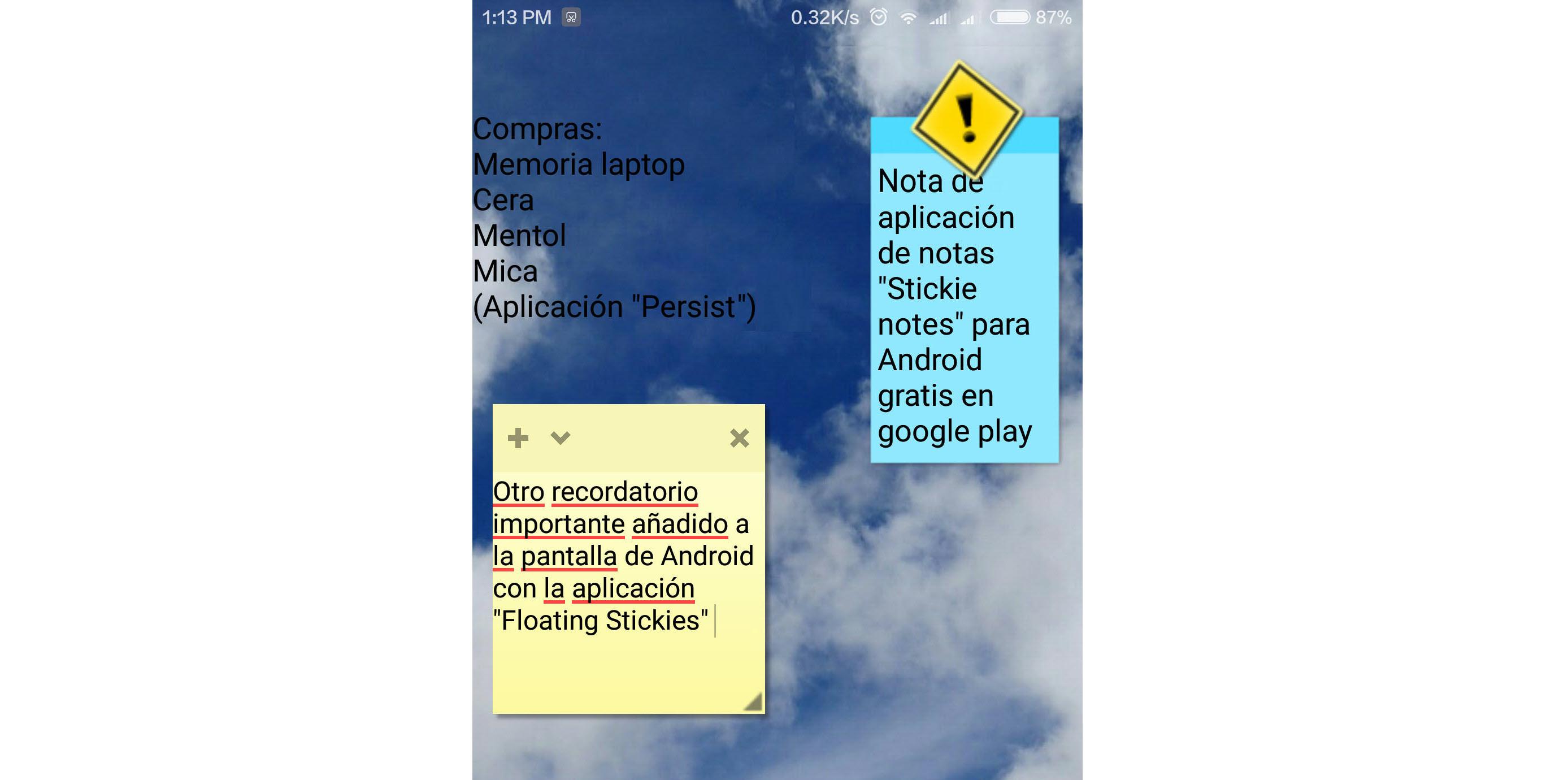 Cómo poner notas en la pantalla del celular