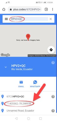 coordenadas google maps codigo plus