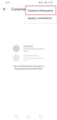 huawei bloquear mensajes google mensajes