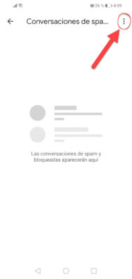 huawei google mensajes bloquear mensajes