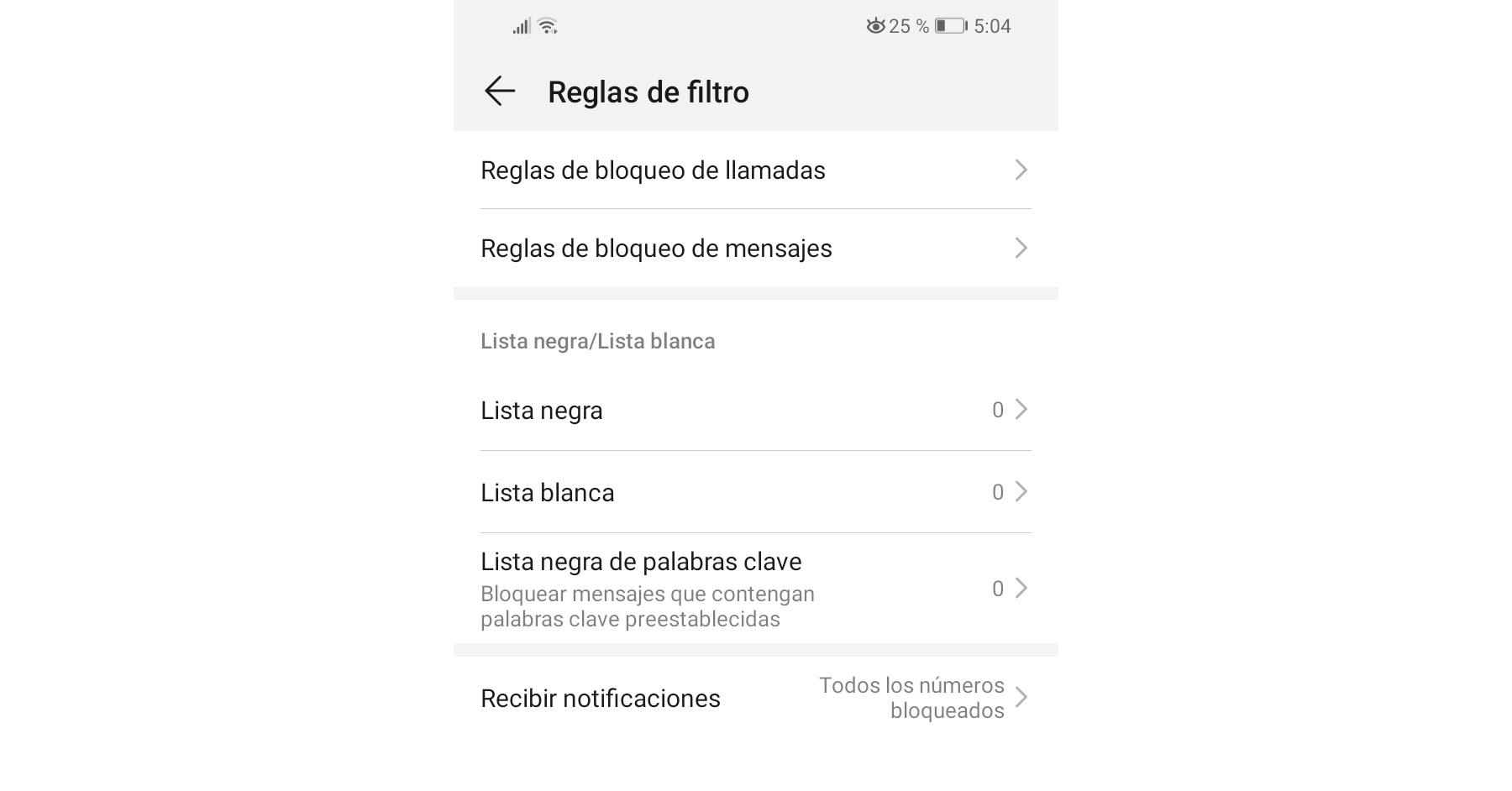 Añadir números a la lista negra en Android (bloquear SMS y llamadas)