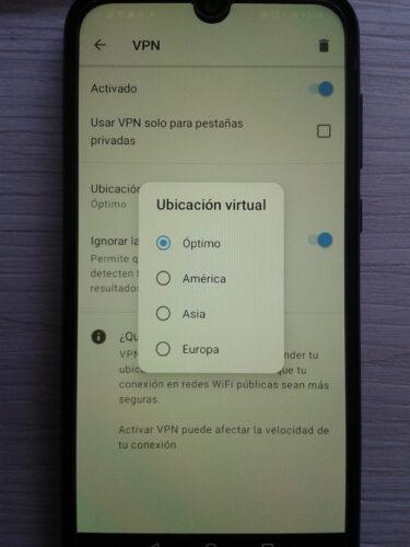 configurar ubicacion opera vpn