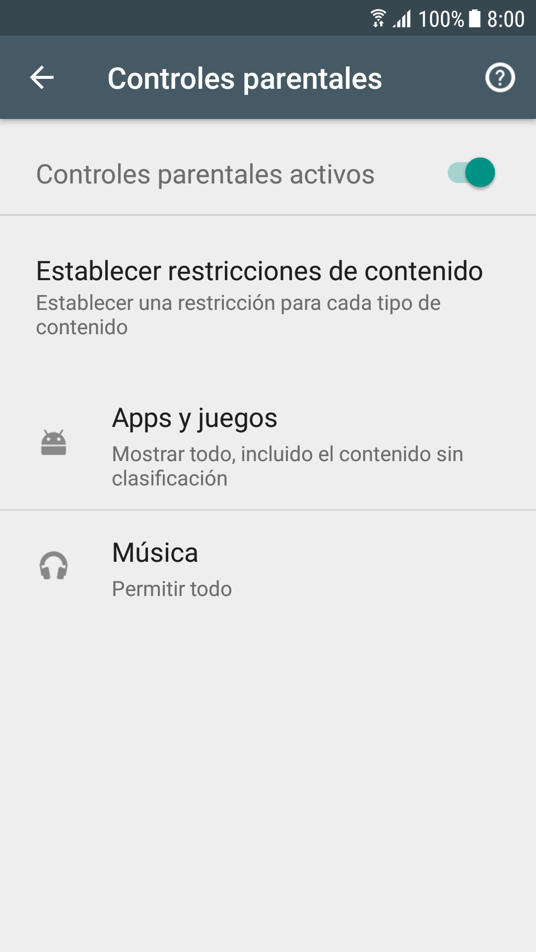 Google play music parental control