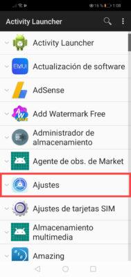 estadisticas de uso aplicaciones android activity launcher
