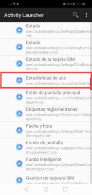 estadisticas de uso aplicaciones android activity launcher 2