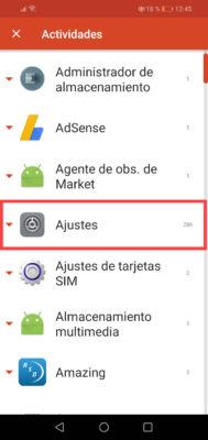 estadisticas de uso apps ajustes