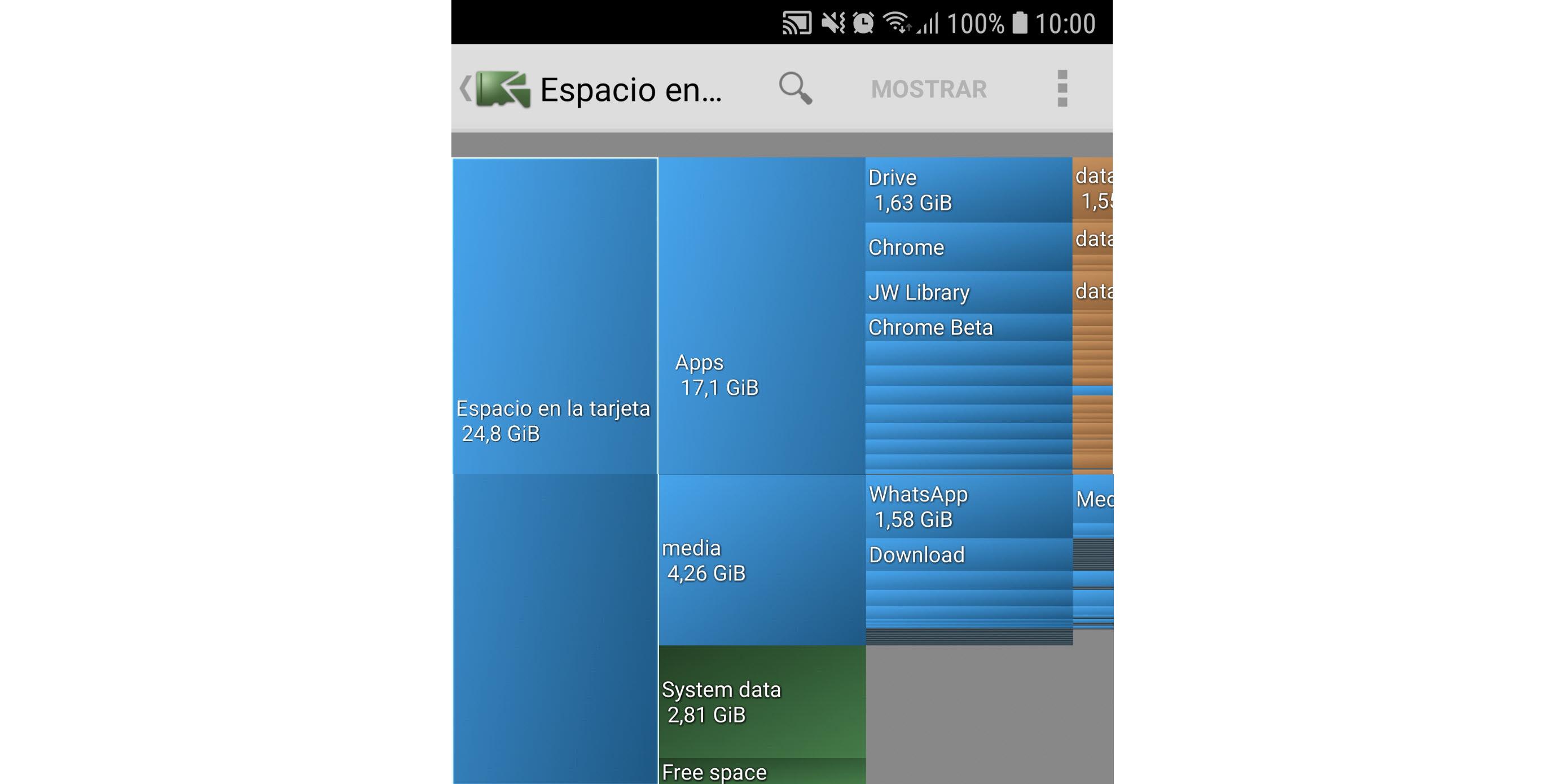 Cómo saber qué ocupa ESPACIO de almacenamiento en Android