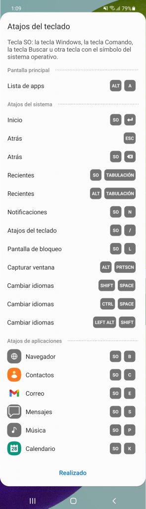 atajos teclado controlar android windows 10