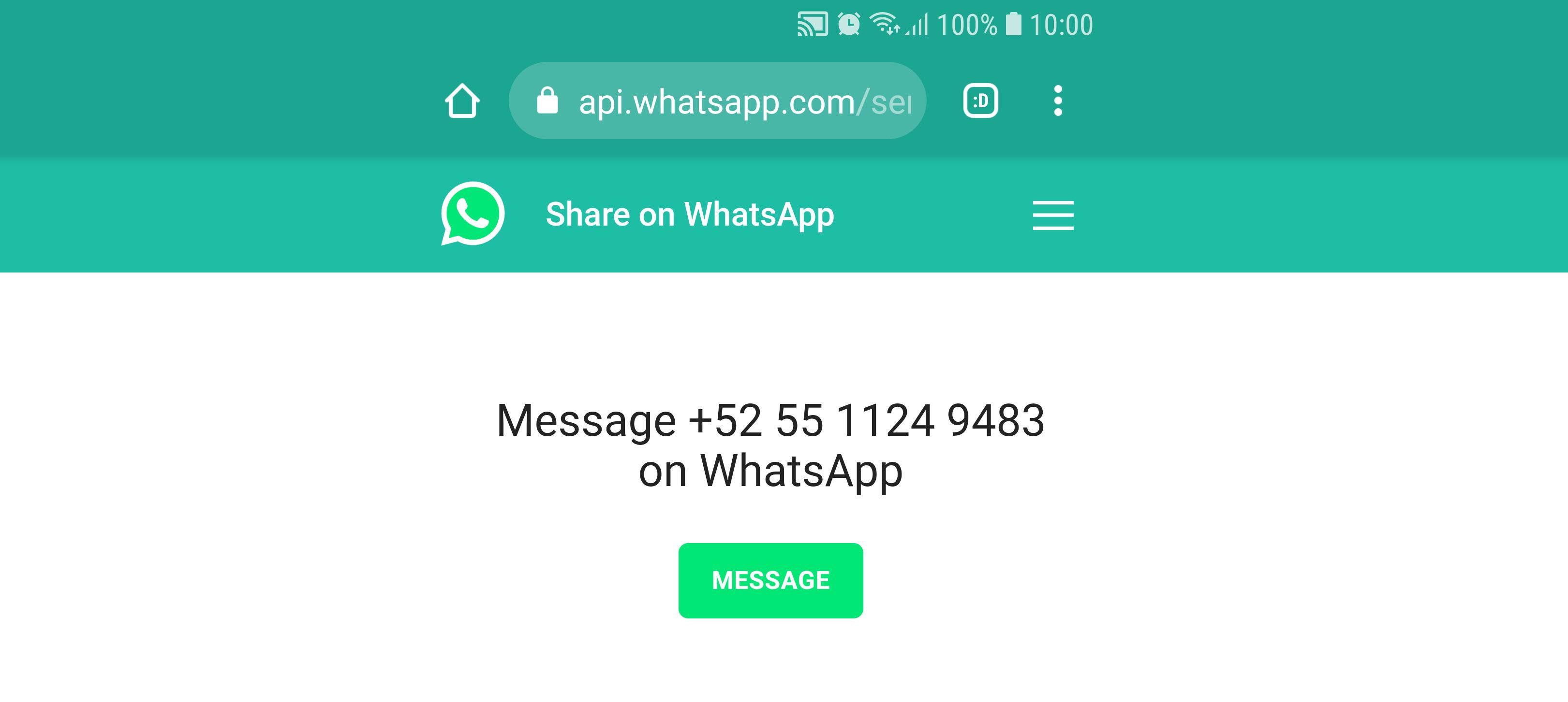 Cómo enviar un WhatsApp a un número no registrado