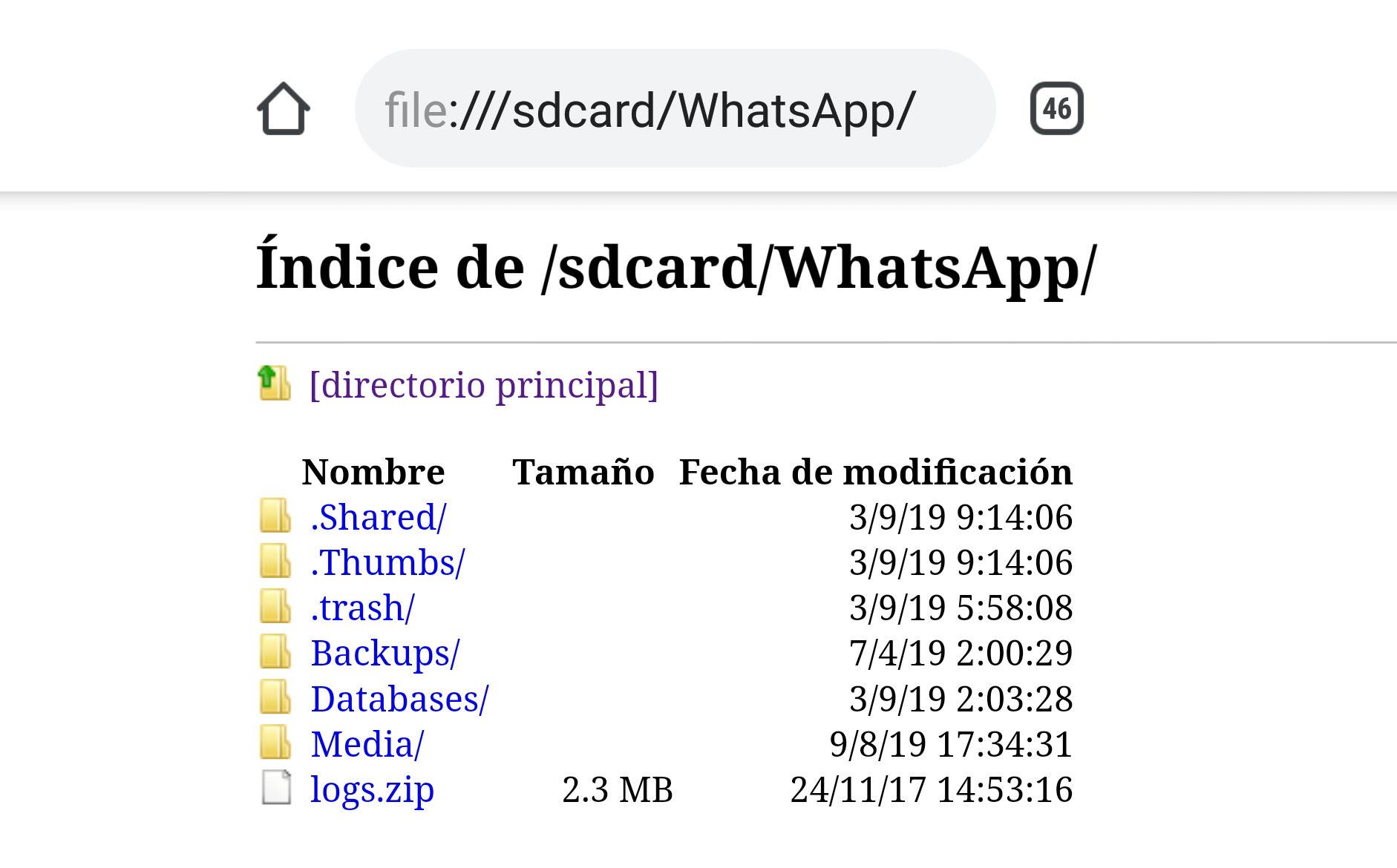 file:///sdcard/ el TRUCO para ver tus archivos desde el navegador