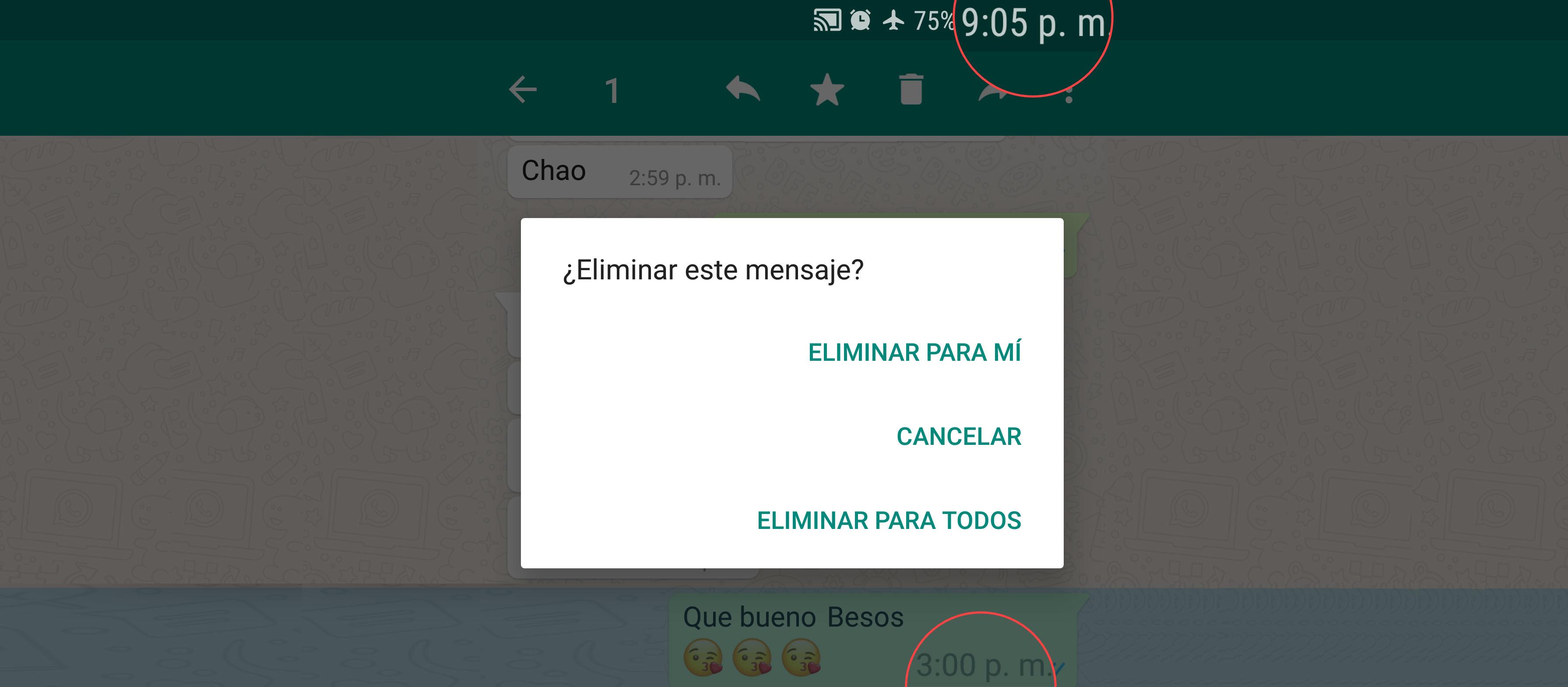 Cómo eliminar mensajes de WhatsApp «PARA TODOS» después de horas, días