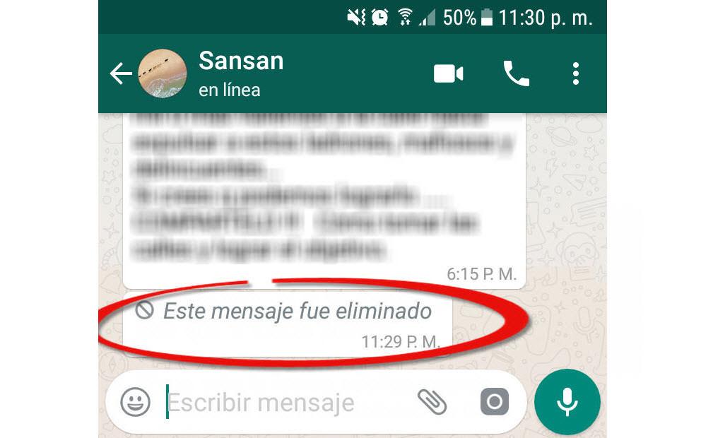 Cómo ver mensajes de Whatsapp ELIMINADOS por la otra persona