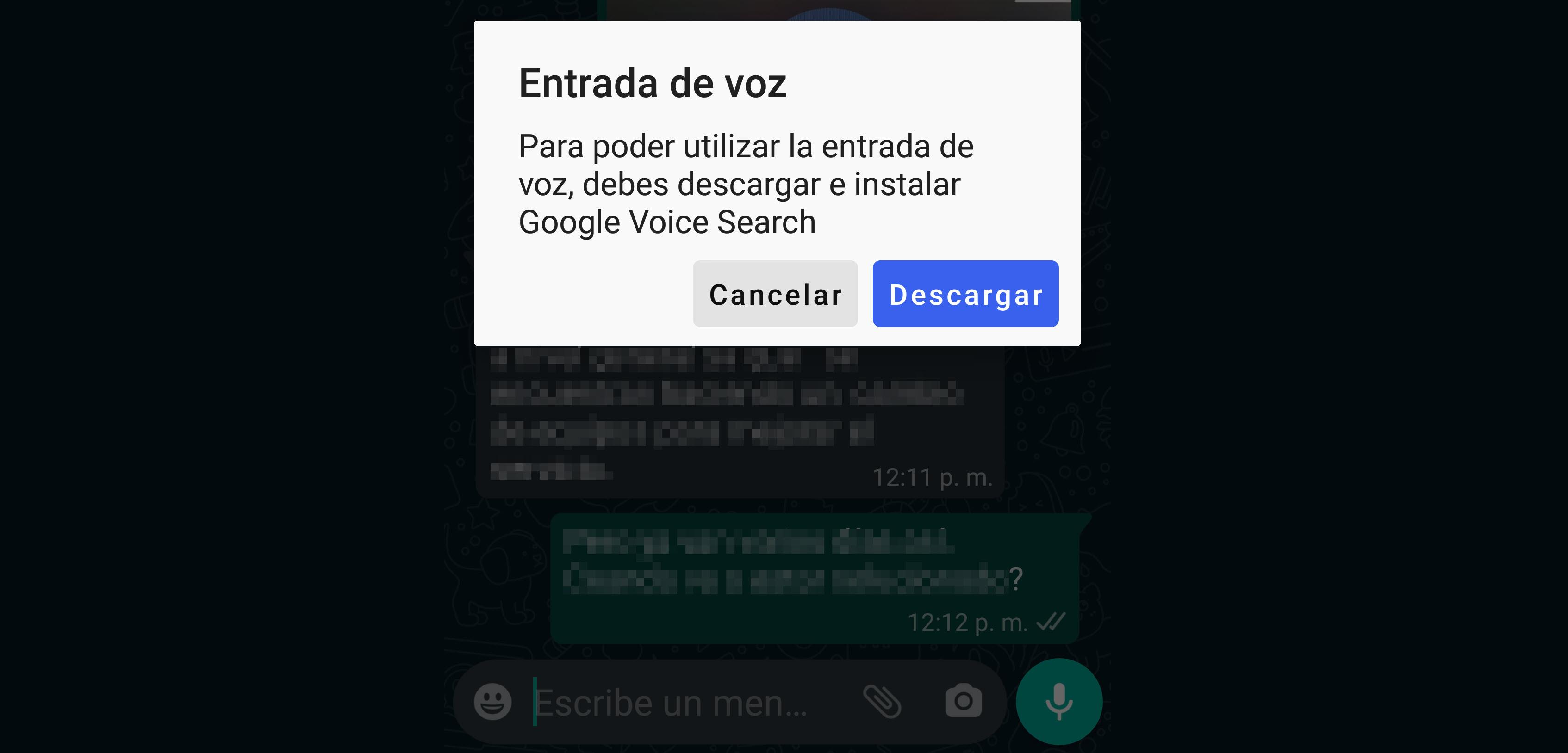 Cómo activar o desactivar el dictado por voz en WhatsApp