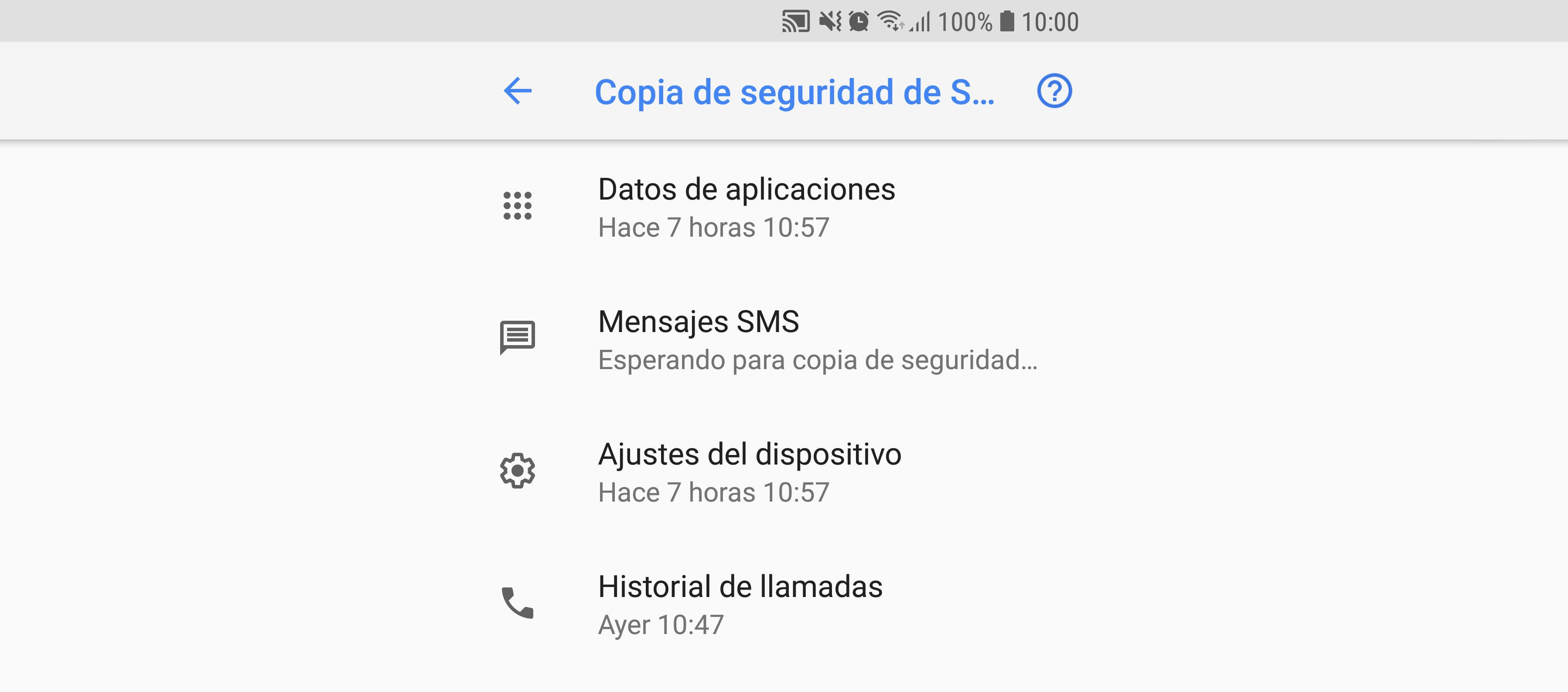 Cómo hacer una copia de seguridad de todas tus apps y datos
