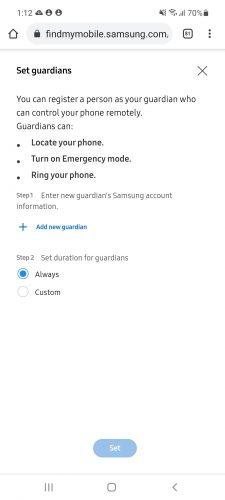 Samsung tutor mode (set tutors)