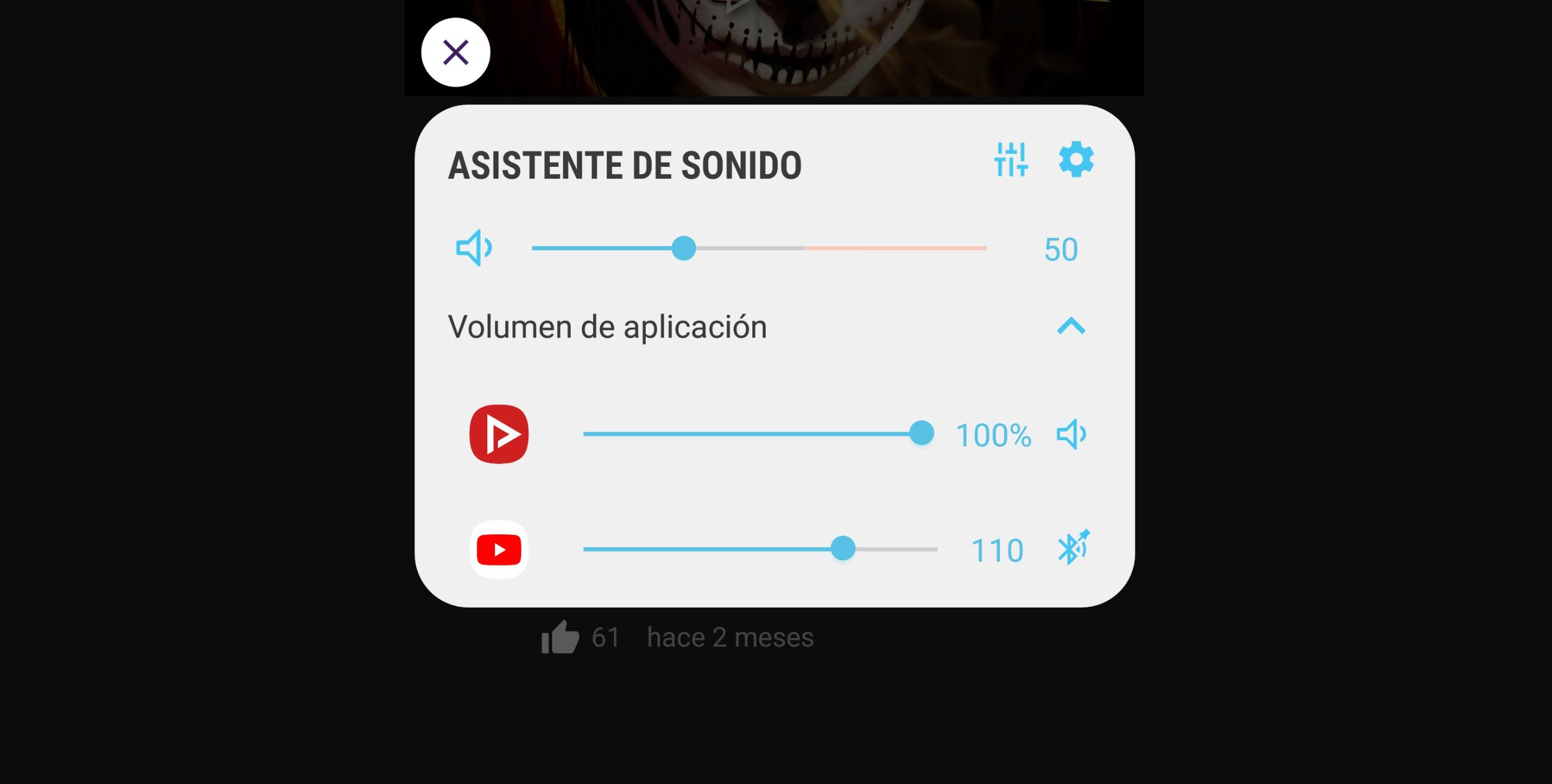 Con Sound Assistant puedes mezclar música de YouTube u otras apps (Samsung)